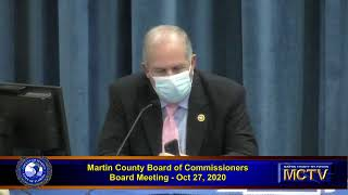 Martin County Board of County Commissioners Meeting, Tuesday, October 27