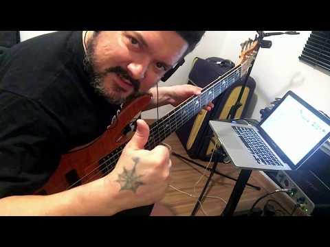 Gravação de contrabaixo - Samba-Rock com Beethovinho