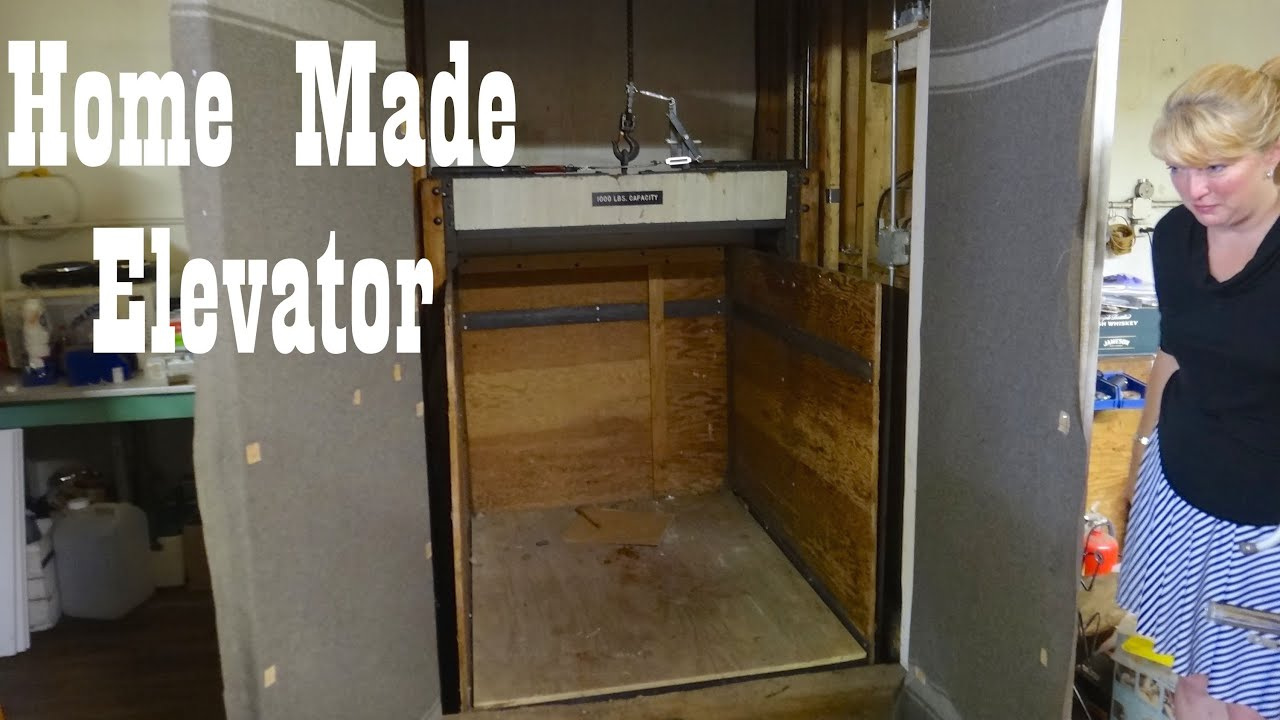 Antique home made freight elevator in hillsville va youtube for Home elevator kits
