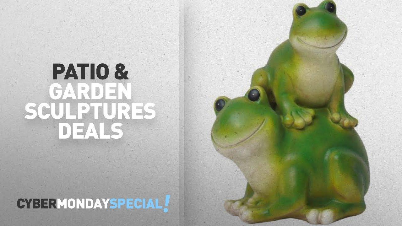 Walmart Top Cyber Monday Patio U0026 Garden Sculptures U0026 Statues Deals: Stacked  Frogs, Green/Cream