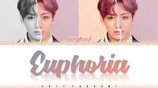 Gambar cover BTS JUNGKOOK – 'EUPHORIA' Lyrics [Color Coded_Han_Rom_Eng]