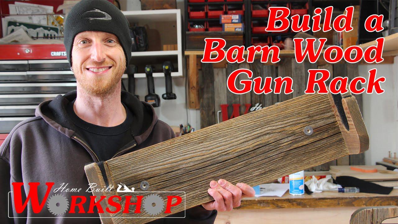 diy gun rack made from reclaimed barn wood