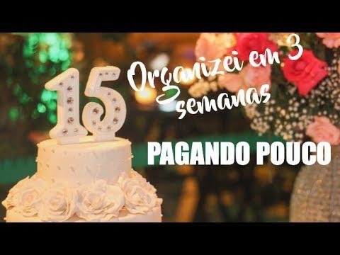 Organizei Minha Festa de 15 ANOS em 3 SEMANAS   Ana Laura Lopes
