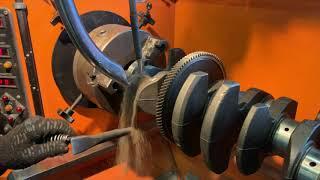 Запчасти в работе: Ремонт шеек коленвала двигателя 2.3л бензин SEBA от Ford Mondeo