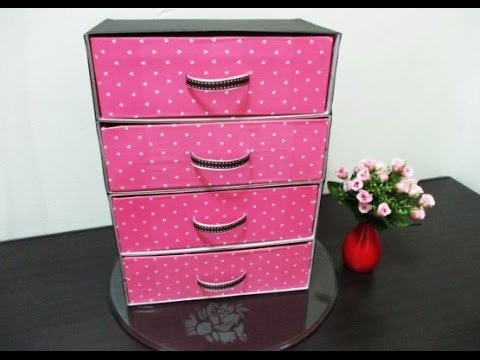 Diy 102 organizer from recycled shoe boxes youtube for What to do with old mailbox