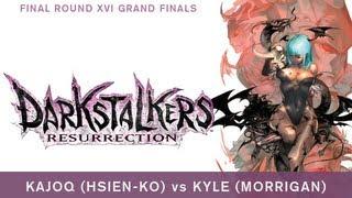 Kajoq (Hsien-Ko) vs Kyle (Morrigan) - Darkstalkers Resurrection - Final Round XVI Grand Finals
