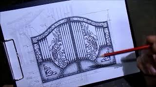 видео кованые ворота