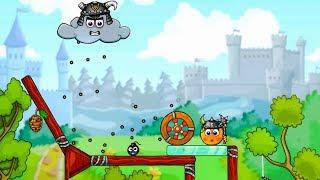 Funny Cartoon Game Cover Orange Om Nom #7  Врятувати Апельсин Ам Ням від Злої Хмаринки Веселий Мультик Гра
