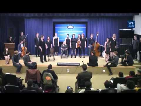 [CC] Spring Awakening Cast & Duncan Sheik Perform at the White House