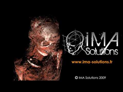 IMA Solutions - 3D exploration from CT scan datas of ancient egyptian mummies - Siggraph 2009