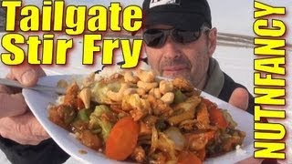 "Cooking with Nutnfancy: ""Tailgate Stir Fry"" (bleeding too!)"