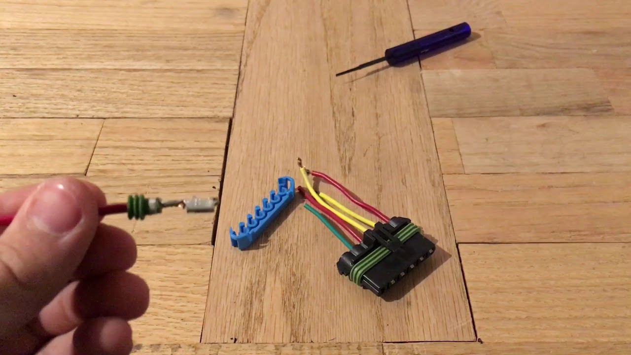 Female 280 Delphi Weather-pack 6 pin Connector terminal removal technique