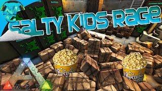 vuclip ARK Raid - Salty Kids Rage: Popcorn for Everyone! ARK Ragnarok PVP E24