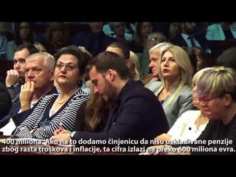 Dragan Šutanovac: Vratićemo sve otete penzije, svaki oteti dinar!