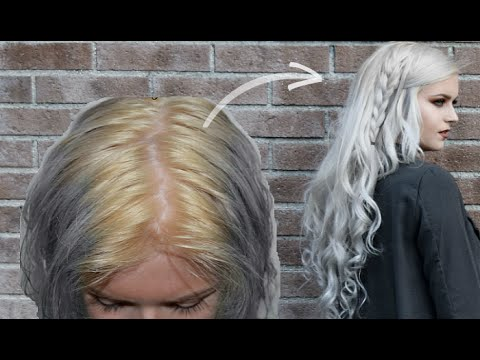 Hair Routine From YELLOW To WHITE YouTube