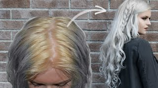 hair routine from yellow to white