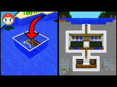 Minecraft: How to Build a Underwater Secret Base Tutorial (#4) - Easy Hidden House
