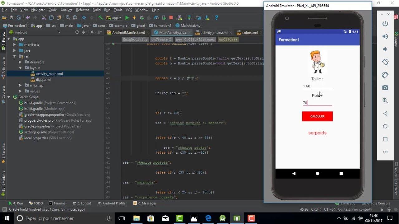 Formation 1 : Apprenez les bases du développement Android et créez votre première application