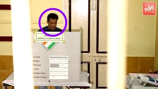 Salman Khan Casts Vote in Mumbai | Maharashtra Polls | MH Assembly Elections 2019