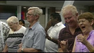 Line of deaf people healed.