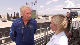 Watch Virgin Galactic founder Richard Branson speak with CNBC following successful spaceflight