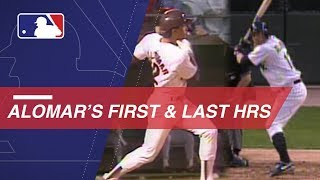 A look at Alomar's first and last homer in the Majors