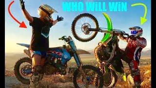 FATHER VS. SON (dirt bike challenge)