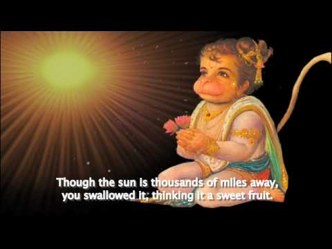 THE HANUMAN CHALISA TUTORIAL - ENGLISH TRANSLATION AND STORY ANIMATION - MUSIC BY KRISHNA DAS