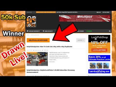 Lock Sport Update || HelpfulLockPicker Is Now On Locklab.com || 50k Subscriber Giveaway Drawing Live