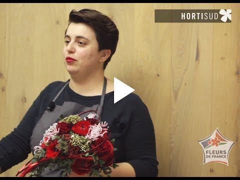 Bonjour les fleuristes : St Valentin par Charline Pritscaloff avec Hortisud les fleurs du Var