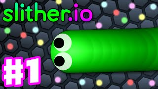 Slither.io - Gameplay Part 1 - Top 10 with No Mods! Biggest Snake: 15,000!