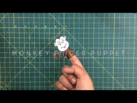 Easy Monkey Finger Puppet - YouTube