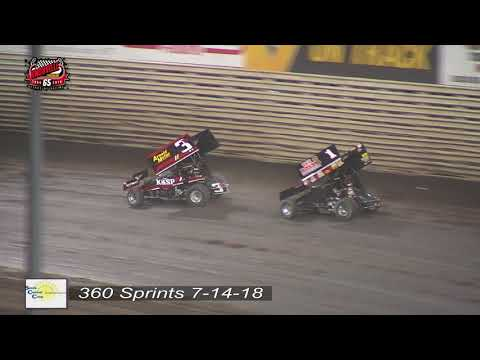 Knoxville Raceway 360 Highlights - July 14, 2018