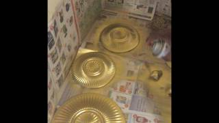 Gold DIY Dollar Tree Plates (Black & Gold Tablescape)