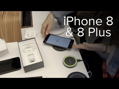 Apple iPhone 8 & 8 Plus unboxing and wireless charging tests