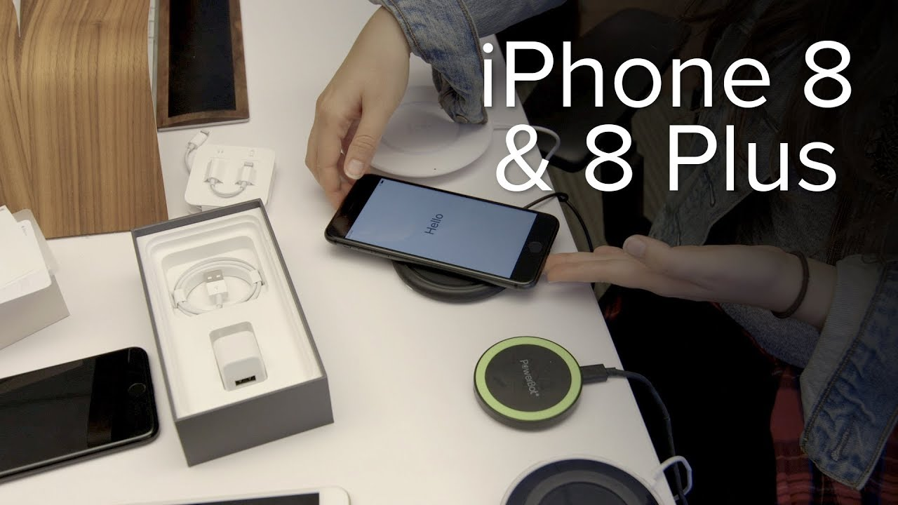 apple iphone 8 8 plus unboxing and wireless charging tests youtube. Black Bedroom Furniture Sets. Home Design Ideas