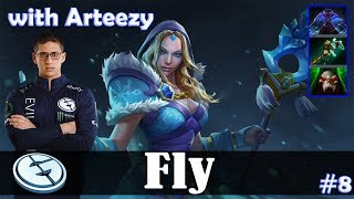 Fly - Crystal Maiden Safelane | with Arteezy (Arc Warden) | Dota 2 Pro MMR Gameplay #8