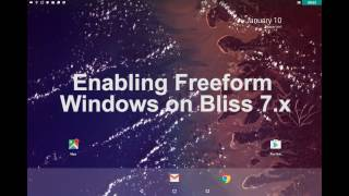How To use Taskbar on Bliss-x86 n7.1.x