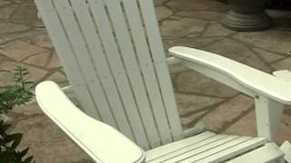 Big Daddy Adirondack Chair With Pull Out Ottoman White - Product Review Video