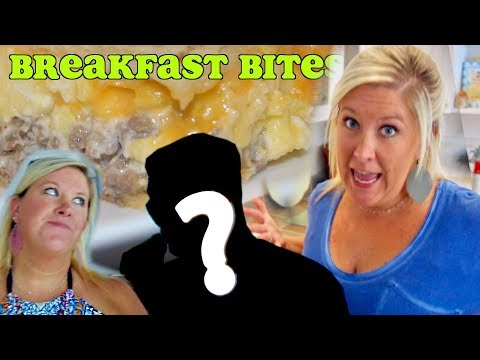 Cooking with Katiepie: CREAMY SAUSAGE BREAKFAST BITES! (with Special Guests!)