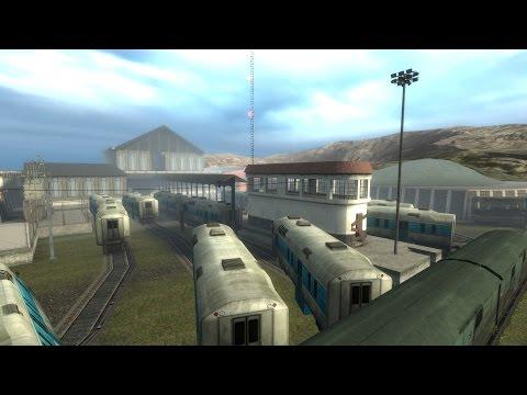 HL2 Episode Two beta: ep2_outland_08 trainyard version