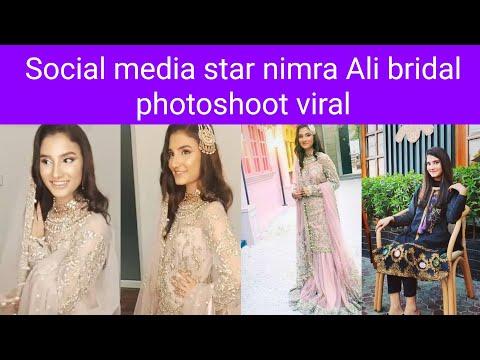 Nimra Ali transformed into a ravishing young bride / Nimra Ali bridal photoshoot