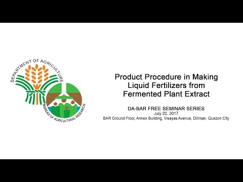 Product Procedure in Making Liquid Fertilizers from Fermented Plant Extract