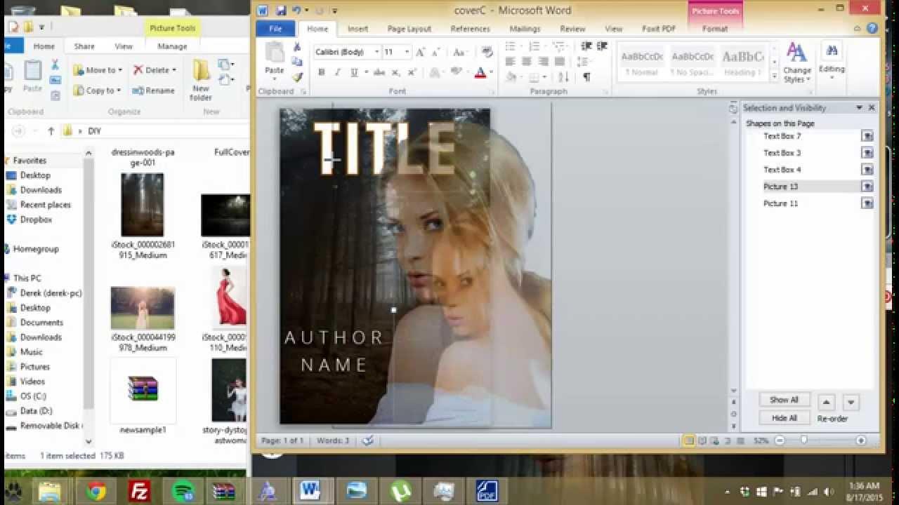 how to make epub book cover