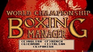World Championship Boxing Manager gameplay (PC Game, 1990)