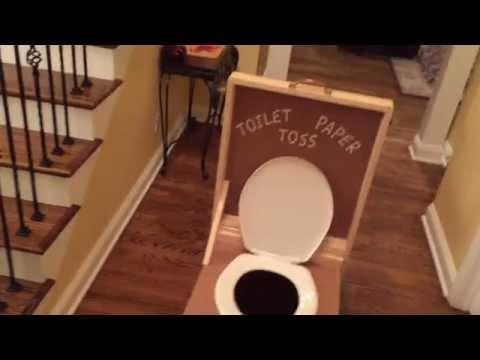 Toilet Paper Toss Setup