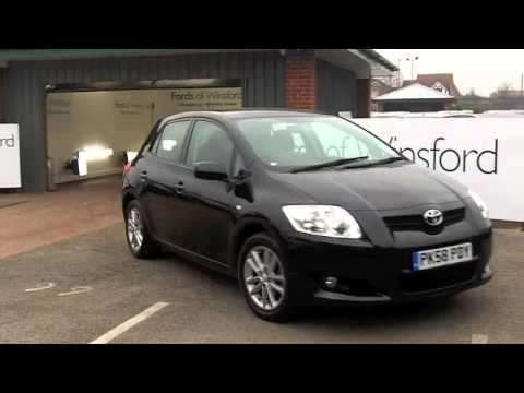 used toyota auris diesel hatchback 2008 1 4 d 4d tr 5dr pk58pdy youtube. Black Bedroom Furniture Sets. Home Design Ideas