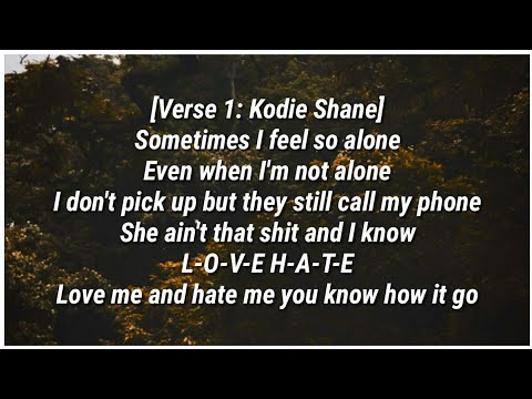 Kodie Shane - Love & Drugz II (Lyrics) ft. Trippie Redd