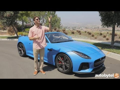 2017 Jaguar F-TYPE SVR Convertible Test Drive Video Review