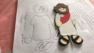 como fazer moldes de desenhos, personagens bíblicos